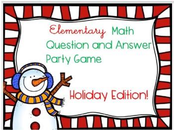 Kindergarten Math Jeopardy Game ~ CCSS Promethean Christma