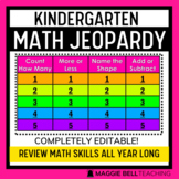 Kindergarten Math Jeopardy Virtual Review Game for Distance Learning (editable)