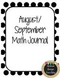 Kindergarten Math Journal- August/September
