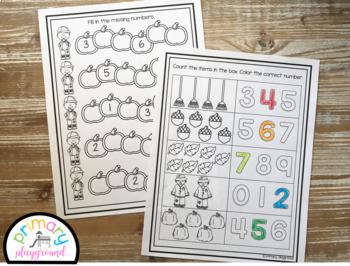 Kindergarten Math Journal Bundle