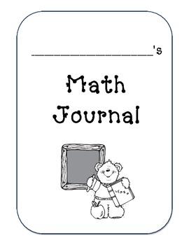 Kindergarten Math Journal - Common Core