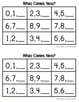 Kindergarten Math Journal Pages