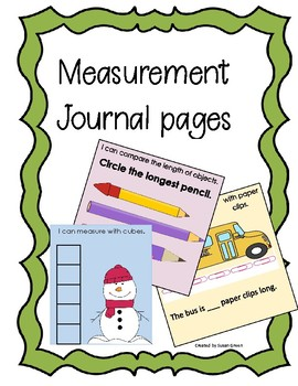 Kindergarten Math Journal Pages for Measurement