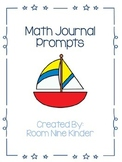 Kindergarten Math and Writing Journal Prompts