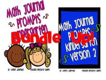 Kindergarten Math Journal Prompts Bundle