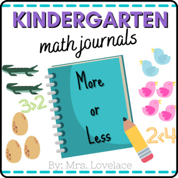 First Grade and Kindergarten Math Journal Prompts:  More o