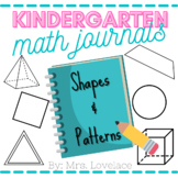 Kindergarten Math Journal Prompts:  Shapes and Patterns Common Core