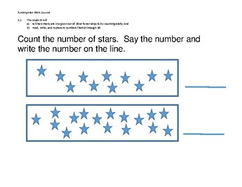 Kindergarten Math Journal (VA SOL)