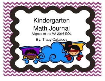 Kindergarten Math Journal (2016 VA SOL)