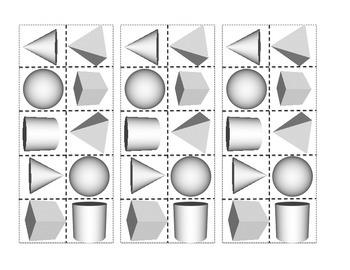 Kindergarten Math Journals - 3D Shapes