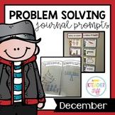 Kindergarten Math Journals: December Story Problems