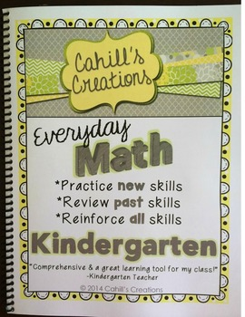 Kindergarten Math Journals - HARD COPY