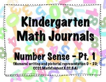 Kindergarten Math Journals - Number Sense Pt. 1
