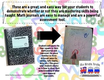 Kindergarten Math Journals - Number Sense Pt. 2