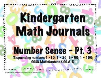 Kindergarten Math Journals - Number Sense Pt. 3