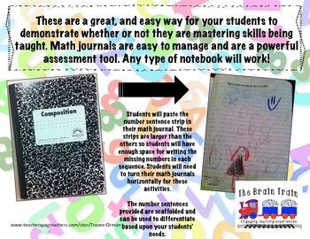 Kindergarten Math Journals - Number Sense Pt. 4