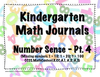 Kindergarten Math Journals - Number Sense Pt. 4