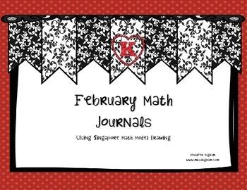 Kindergarten Singapore Math Journals for February