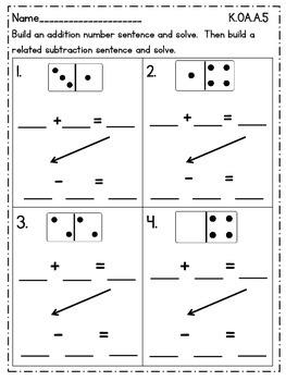 Kindergarten Math {K.OA.A.5} Freebie
