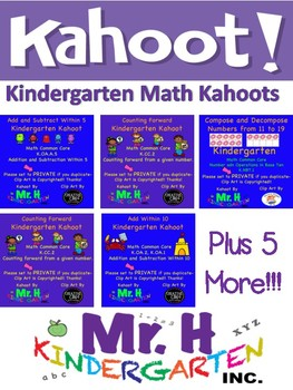 Kindergarten Math Kahoots (Common Core Aligned!)