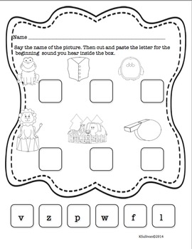 Back to School Sight Words Kindergarten Math Phonics Task Cards
