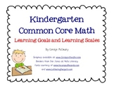 Kindergarten Math Learning Goals and Learning Scales