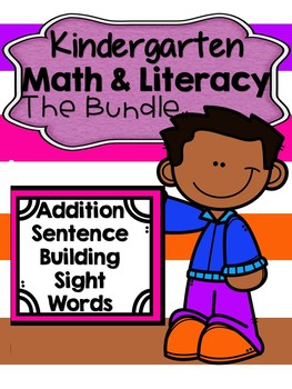 Kindergarten Math & Literacy Bundle