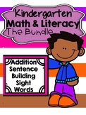 Kindergarten Math & Literacy Bundle