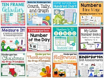 Kindergarten YEAR LONG BUNDLE 1000+ Pages of Math & Reading Resources!