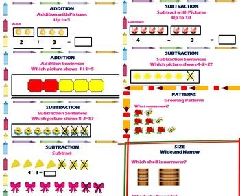 Kindergarten Math Literacy Packet