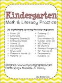 Kindergarten Math & Literacy Practice