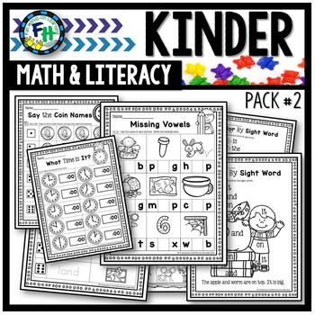 Kindergarten Math & Literacy Print & Go Pack #2