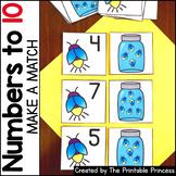 Kindergarten Math: Make a Match Numbers to 10