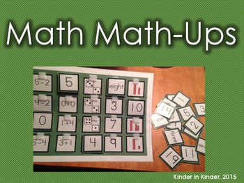 Kindergarten Math Match-Ups