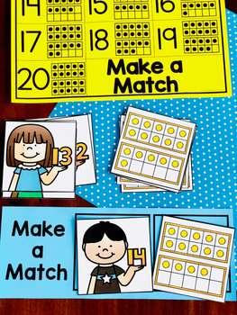 Kindergarten Math: Matching Activities for Numbers 11 - 20