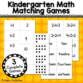 Kindergarten Math Matching Games