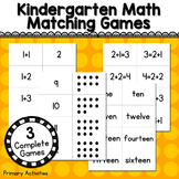 Kindergarten Math Matching Games