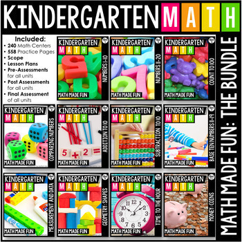 Kindergarten Math: Math Made Fun! A GROWING Bundle!
