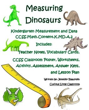 Kindergarten Common Core Math Measurement and Data-Measuring Dinosaurs