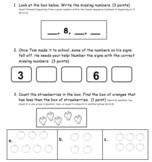 Kindergarten Math Mid-Year Test
