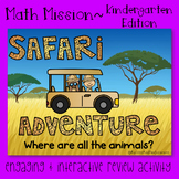 Kindergarten Math Mission - Escape Room - Safari Mystery End of Year Review