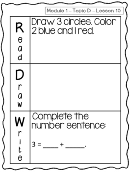 Kindergarten Math Module 1 Application Problems