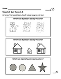 Kindergarten Math Module 1 Quiz Topics A-B