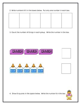 Kindergarten Math Module 1 Whole Group Assessment