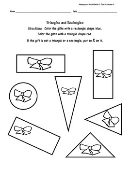 Kindergarten Math Module 2 Topic A Gingerbread Supplementary Worksheets