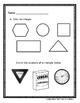 Kindergarten Math Module 2 Whole Group Assessment: Shapes