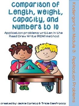 Kindergarten Math Module 3 Application Problems