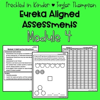 Kindergarten Eureka Math Module 4 Assessments