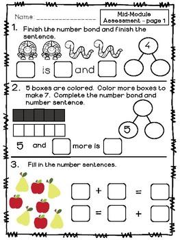 Kindergarten Math Module 4 Mid & End Assessments