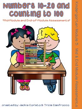 Kindergarten Math Module 5 Mid & End Assessments   TpT